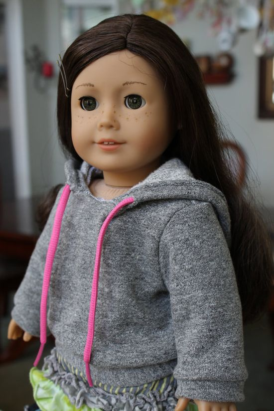 American Girl grey hoodie sweatshirt 18 inch doll clothing via Etsy
