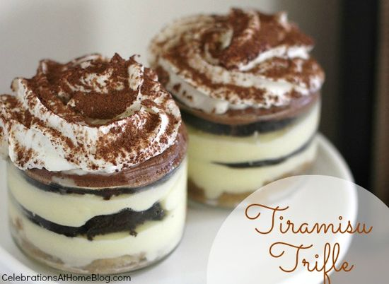 Tiramisu Trifle Recipe via Celebrate at Home >> #WorldMarket Fall Cooking #Recipes #GourmetGetaway #Dessert #Italian