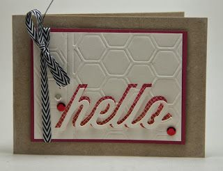 Homemade Cards by Erin: hello
