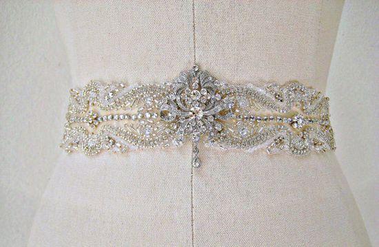 Vintage wedding gown belt