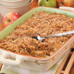 Caramel Apple Crisp...oats, apples, caramels, cider...