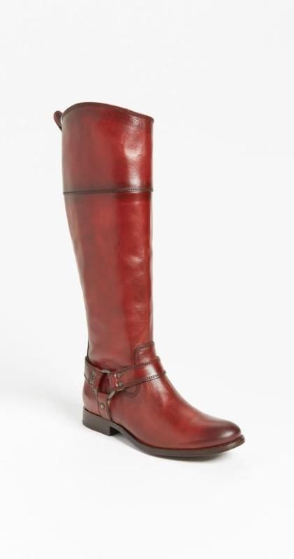 Burnt Red Frye Riding Boot