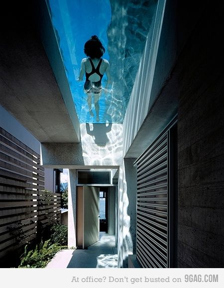 a pool over your house