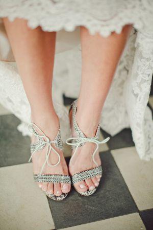 Snakeskin Bridal Shoes