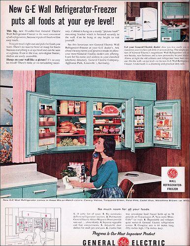 1956 GE Wall Refrigerator by American Vintage Home, via Flickr