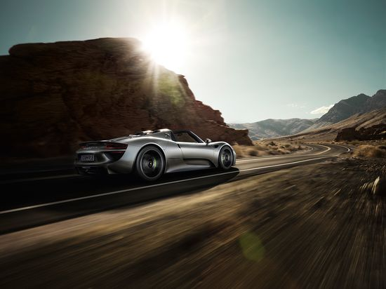 #Porsche #918Spyder: In view of an all-electric top speed of 150 km/h and a maximum torque of 475 Nm from a standing start, you will come to regard electricity in a completely new light. Learn more: link.porsche.com/918 Combined fuel consumption in accordance with EU 5: 3.3-3.0 l/100 km, CO2 emissions 79-70 g/km. Electricity consumption 12.5-13.0 kWh/100 km.