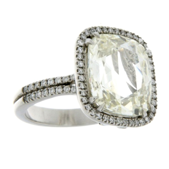 1stdibs - Cushion Cut Diamond Ring explore items from 1,700  global dealers at 1stdibs.com