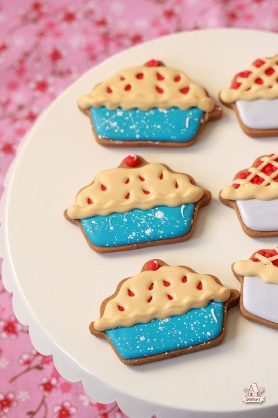 Cherry Pie Decorated Cookies