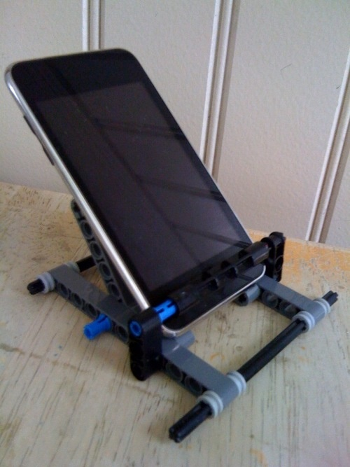 Lego iPhone stand my son made.