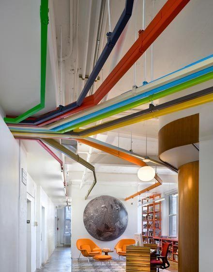 TED, Manhattan, NY - Entry and reception area by tinamanis #Architecture #Office_Design