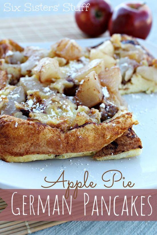 Apple Pie German Pancakes from sixsistersstuff.com #pancakes #apples