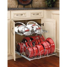 The link to where Lowe's actually sell this! Rev-A-Shelf?20.75-in W x 22-in D x 18.13-in H 2-Tier Metal Pull Out Cabinet Basket
