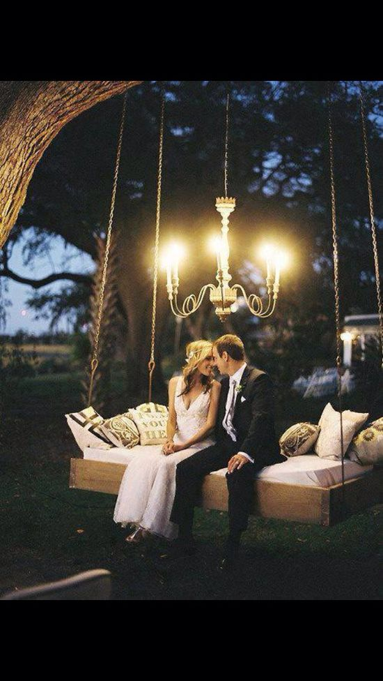 Romantic wedding setting
