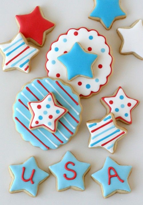 Fun double-decker 4th of July Cookies Repinned from Andy Moyssidis