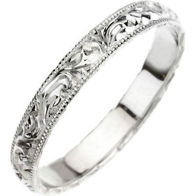 Platinum #Hand #Engraved Wedding Band