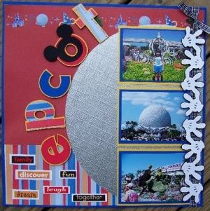 #disney #scrapbook #layout by carrie sherrer