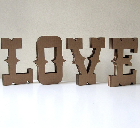 Circus Block Letters - Cardboard Carnival Font Wedding Party Alphabet Decor. $5.00, via Etsy.