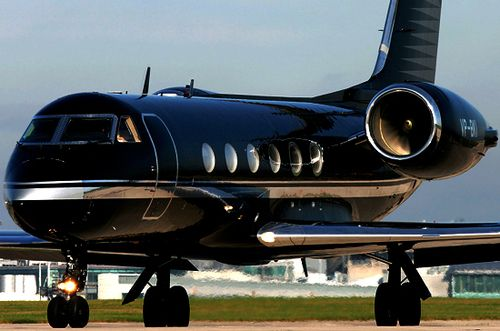 Black Private Jet