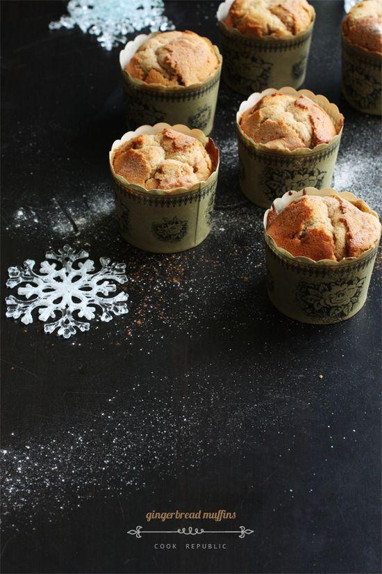 Gingerbread Muffins - Cook Republic