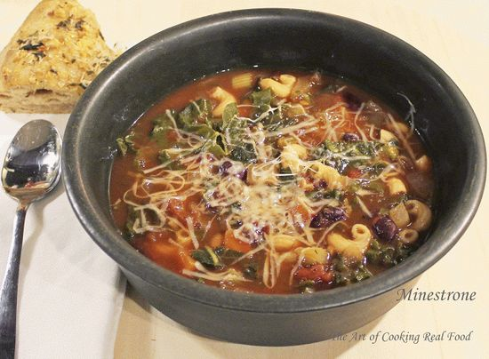 The Art of Cooking Real Food: Slow Cooker Minestrone (and a peek into my Thursday)