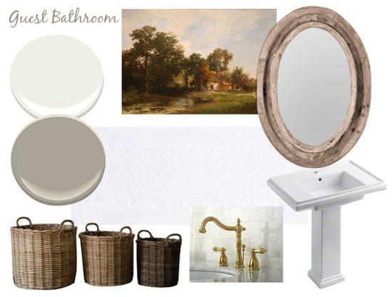 Guest Bathroom Inspiration Board