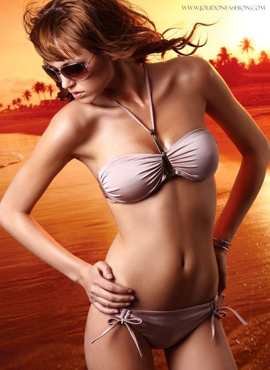 Fancy Bandeau Top Swimsuit by Prelude