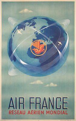 Air France Globe 1948