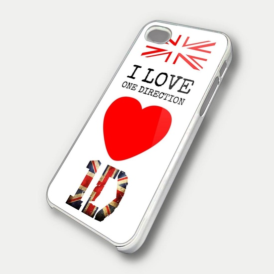 I LOVE ONE DIRECTION CASE - iPhone 4 Case, iPhone 4s Case and iPhone 5 case Hard Plastic Case