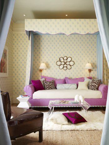 Girl's Bedroom by Palmer Weiss: love the mirror