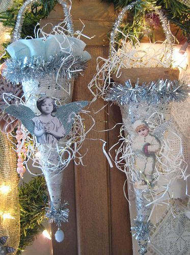 Victorian cone, could use for a baby shower, winter snow party favors, gift to cheer someone up or tell them you love them!