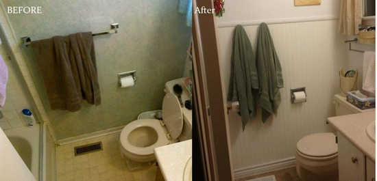 Tiny DIY bathroom before and after