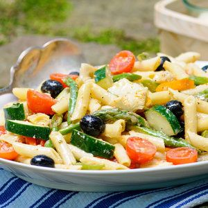 Here's a pasta salad that's loaded with flavor and is as colorful as the Italian flag.