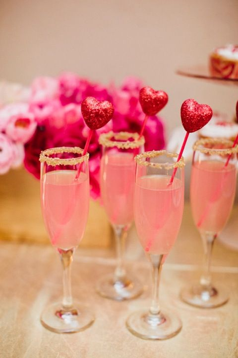 Cute valentines day drinks!