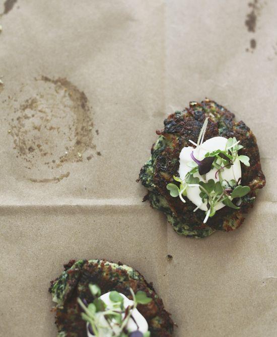 Savory Spinach & Spring Onion Cakes — Roost