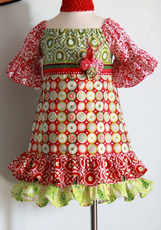Christmas  peasant dress