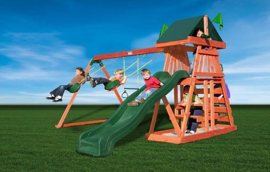 Leisure Time Swing Sets For A Garden: Gorilla Leisure Time Swing Sets ~ lanewstalk.com Outdoor Furniture Inspiration