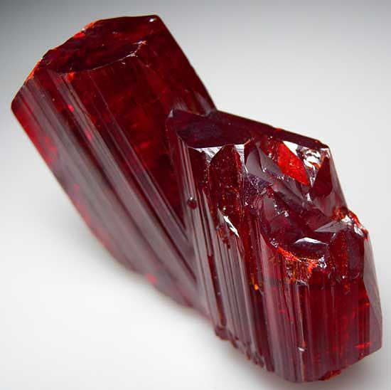 Realgar, China. deep red gem stone; mineral