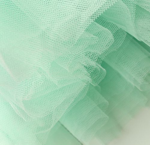 Mint green tulle.