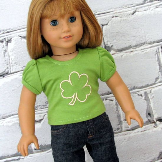 Lucky Shamrock  American Girl Doll Clothes by SewFunDollClothes, $10.00