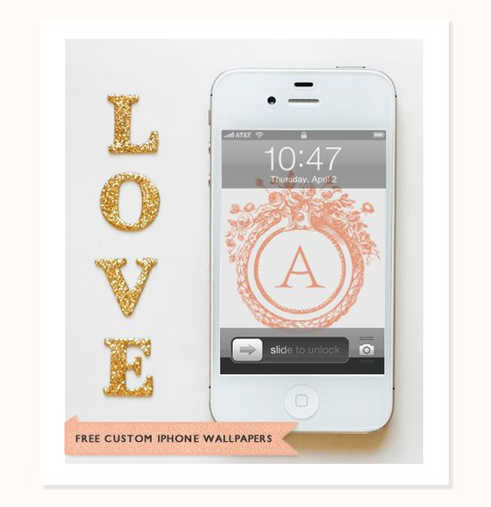 free custom iPhone wallpapers (3 different styles) #monograms
