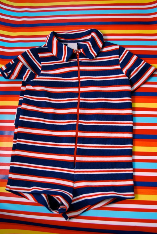 Vintage One Piece Baby Outfit. I just want to see chubby little legs in this