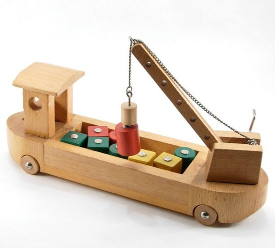 Wooden Cargo Ship Childs Toy via MoreLooseEnds on Etsy