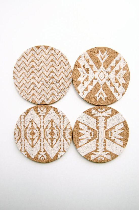 Mojave  Letterpress Coasters  Set of 4 by inhauspress on Etsy, $20.00