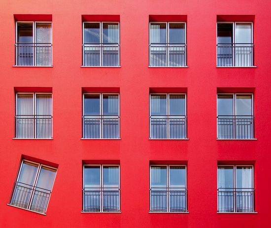 Never be afraid to stand out. #design #red #buildings #architecture #modern #windows