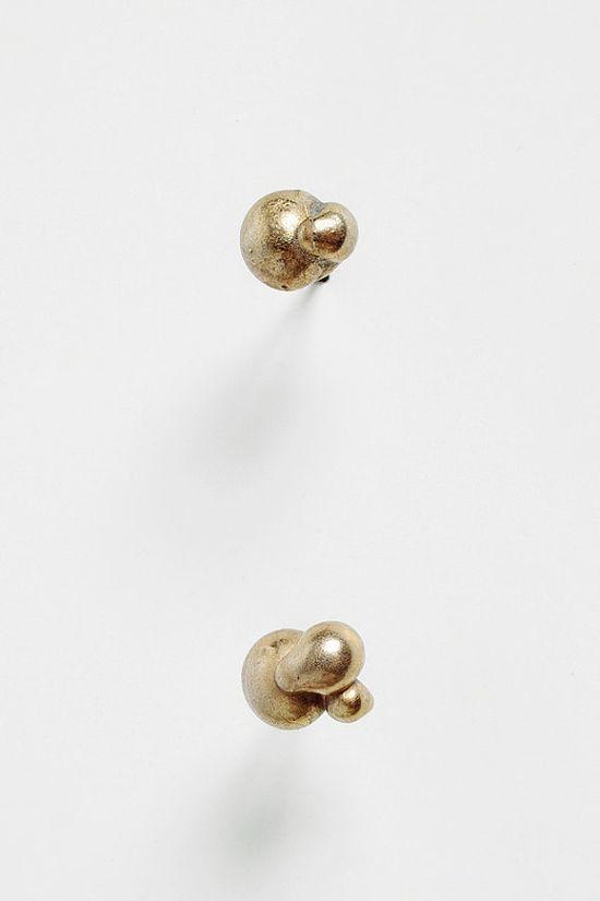 Tiny Dew Drop Bronze Earrings