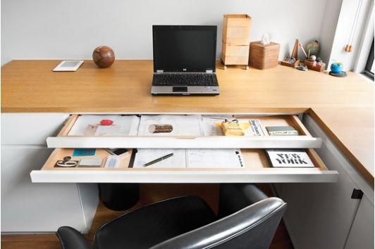 home office idea - Home and Garden Design Idea's- double drawer idea for desk