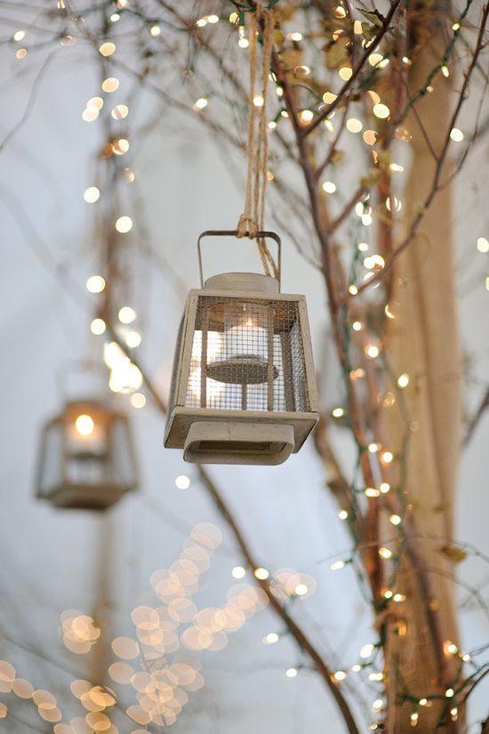 hanging lanterns & twinkling lights