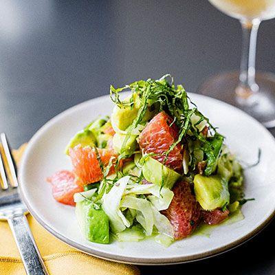 Avocado, Grapefruit, and Shiso Salad