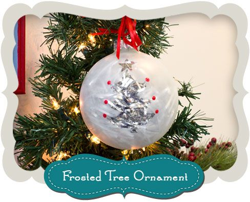 Frosted #Tree #Christmas #Ornament #Holiday #MichaelsStores