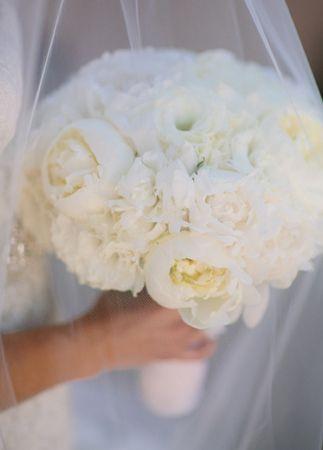 White Bridal Bouquet // Mi Belle Photographers // blog.theknot.com/...
